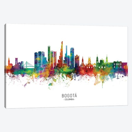 Bogota, Colombia Skyline Canvas Print #MTO2013} by Michael Tompsett Canvas Print