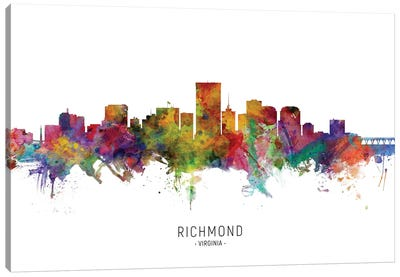 Richmond Virginia Skyline Canvas Art Print