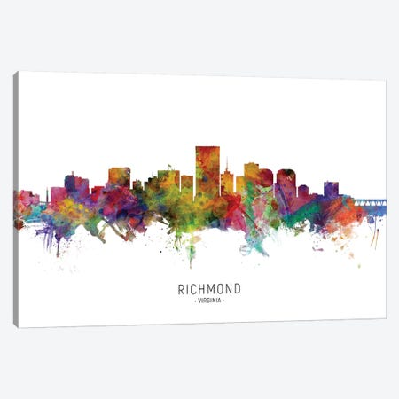 Richmond Virginia Skyline Canvas Print #MTO2014} by Michael Tompsett Canvas Wall Art