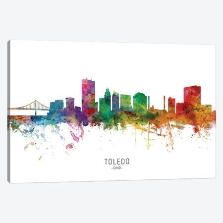 Toledo Ohio Skyline Canvas Print #MTO2015} by Michael Tompsett Canvas Wall Art