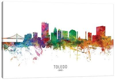 Toledo Ohio Skyline Canvas Art Print