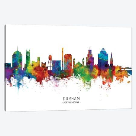 Durham North Carolina Skyline Canvas Print #MTO2016} by Michael Tompsett Canvas Wall Art
