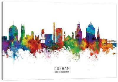 Durham North Carolina Skyline Canvas Art Print