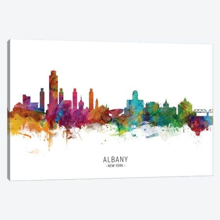 Albany New York Skyline Canvas Print #MTO2017} by Michael Tompsett Canvas Artwork