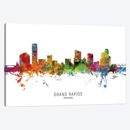 Grand Rapids Michigan Skyline Canvas Print #MTO2018} by Michael Tompsett Canvas Art Print