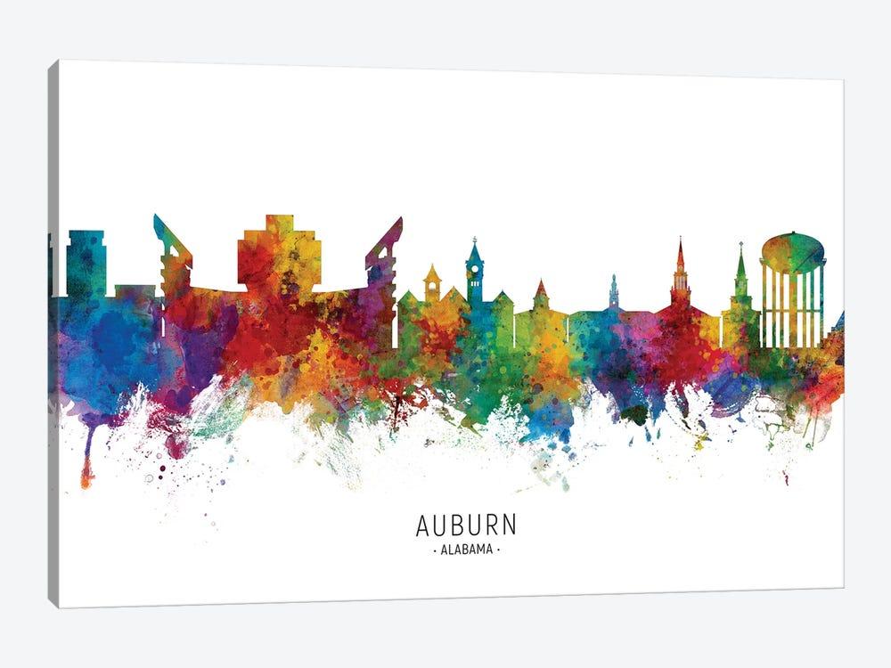 Auburn Alabama Skyline by Michael Tompsett 1-piece Art Print