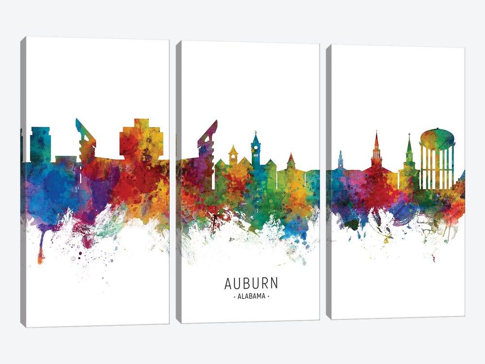 Auburn Alabama Skyline by Michael Tompsett 3-piece Canvas Art Print