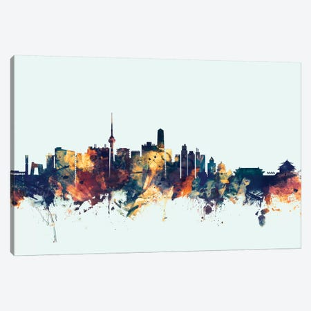 Beijing, People's Republic Of China On Blue Canvas Print #MTO201} by Michael Tompsett Art Print