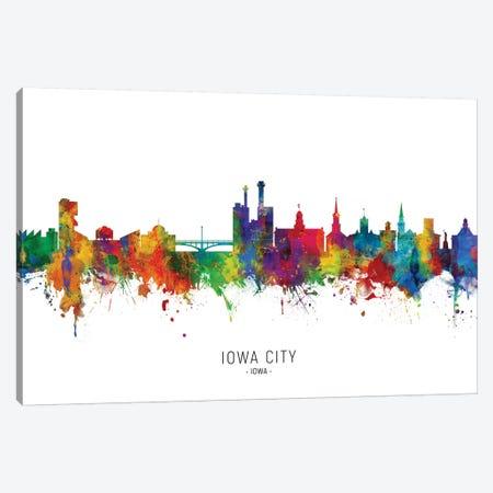 Iowa City Iowa Skyline Canvas Print #MTO2020} by Michael Tompsett Canvas Artwork