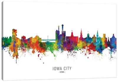 Iowa City Iowa Skyline Canvas Art Print