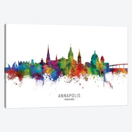 Annapolis Maryland Skyline Canvas Print #MTO2021} by Michael Tompsett Canvas Wall Art