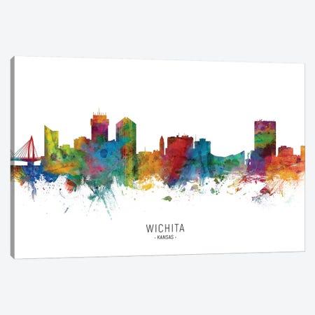 Wichita Kansas Skyline Canvas Print #MTO2022} by Michael Tompsett Canvas Art