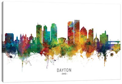 Dayton Ohio Skyline Canvas Art Print