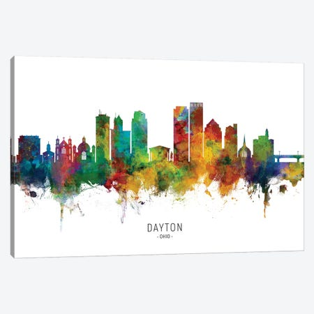 Dayton Ohio Skyline Canvas Print #MTO2023} by Michael Tompsett Canvas Art