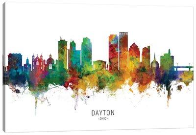 Dayton Ohio Skyline Canvas Art Print