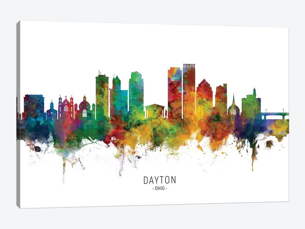 Dayton Ohio Skyline by Michael Tompsett 1-piece Canvas Artwork