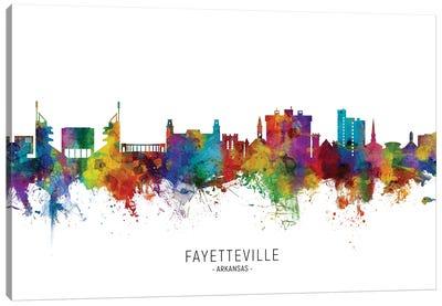 Fayetteville Arkansas Skyline Canvas Art Print