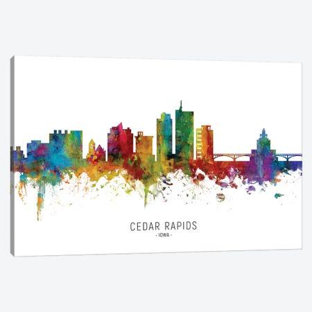 Cedar Rapids Iowa Skyline Canvas Print #MTO2026} by Michael Tompsett Canvas Art Print