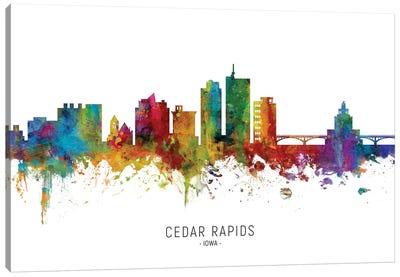 Cedar Rapids Iowa Skyline Canvas Art Print