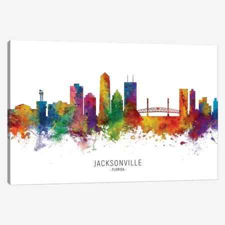 Jacksonville Florida Skyline Canvas Print #MTO2027} by Michael Tompsett Art Print