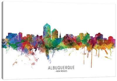 Albuquerque New Mexico Skyline Canvas Art Print
