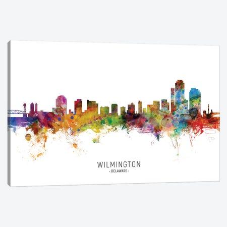 Wilmington Delaware Skyline Canvas Print #MTO2029} by Michael Tompsett Canvas Artwork