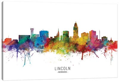 Lincoln Nebraska Skyline Canvas Art Print