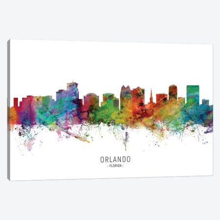 Orlando Florida Skyline Canvas Print #MTO2032} by Michael Tompsett Art Print