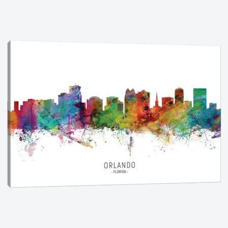 Orlando Florida Skyline Canvas Print #MTO2032} by Michael Tompsett Art Print