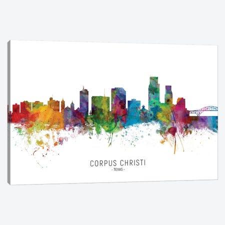 Corpus Christi Texas Skyline Canvas Print #MTO2034} by Michael Tompsett Canvas Wall Art