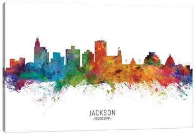 Jackson Mississippi Skyline Canvas Art Print