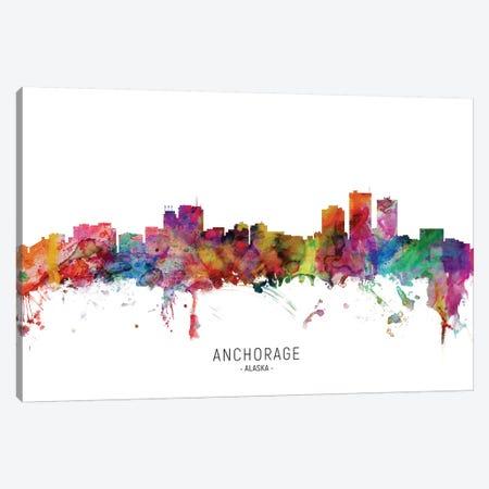 Anchorage Alaska Skyline Canvas Print #MTO2038} by Michael Tompsett Canvas Art Print