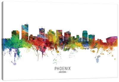 Phoenix Arizona Skyline Canvas Art Print