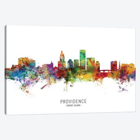 Providence Rhode Island Skyline Canvas Print #MTO2041} by Michael Tompsett Canvas Wall Art