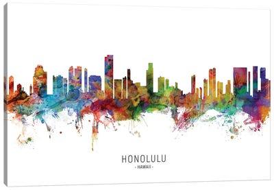 Honolulu Hawaii Skyline Canvas Art Print
