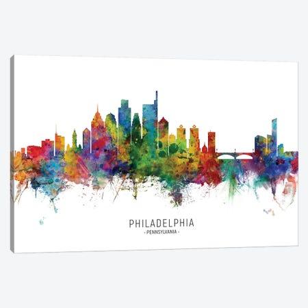 Philadelphia Pennsylvania Skyline Canvas Print #MTO2045} by Michael Tompsett Canvas Print