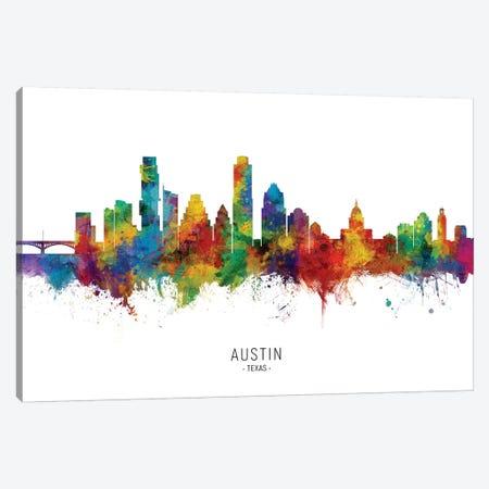 Austin Texas Skyline Canvas Print #MTO2046} by Michael Tompsett Canvas Art Print