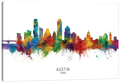 Austin Texas Skyline Canvas Art Print