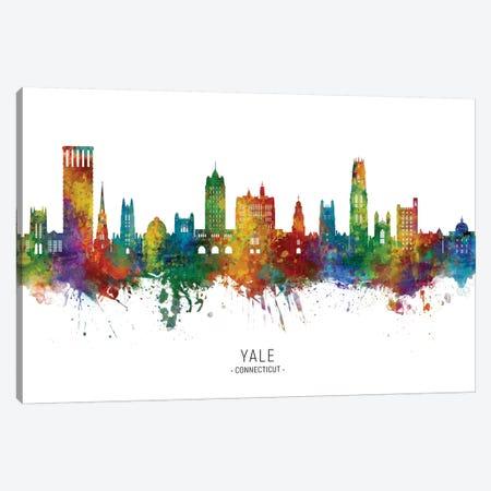 Yale Connecticut Skyline Canvas Print #MTO2048} by Michael Tompsett Canvas Wall Art