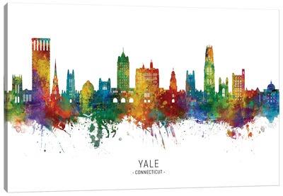 Yale Connecticut Skyline Canvas Art Print
