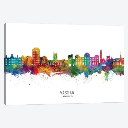 Vassar New York Skyline Canvas Print #MTO2049} by Michael Tompsett Canvas Art