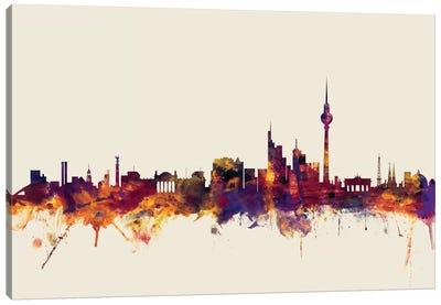 Berlin, Germany On Beige Canvas Art Print