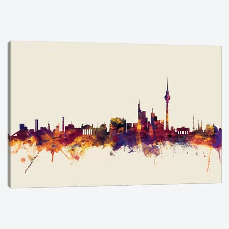 Berlin, Germany On Beige Canvas Print #MTO204} by Michael Tompsett Canvas Art