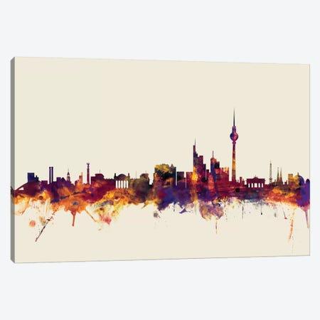 Berlin, Germany On Beige 3-Piece Canvas #MTO204} by Michael Tompsett Canvas Art
