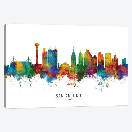 San Antonio Texas Skyline Canvas Print #MTO2050} by Michael Tompsett Canvas Art Print