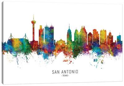 San Antonio Texas Skyline Canvas Art Print