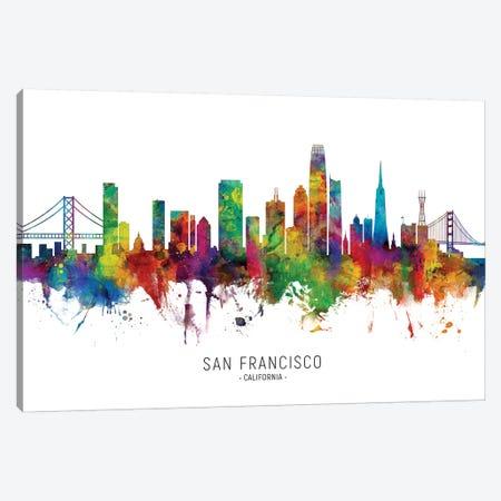 San Francisco California Skyline Canvas Print #MTO2051} by Michael Tompsett Canvas Art Print