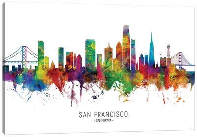 San Francisco California Skyline Canvas Art Print