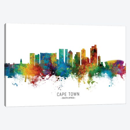 Cape Town South Africa Skyline Canvas Print #MTO2052} by Michael Tompsett Canvas Art Print