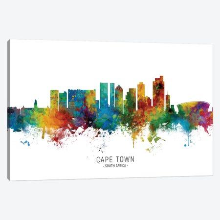 Cape Town South Africa Skyline Canvas Print #MTO2052} by Michael Tompsett Canvas Art Print